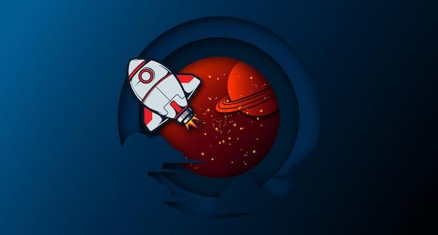 La nave spaziale di papercut e il background dell'universo