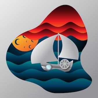 Scartoffie di navigazione in mare