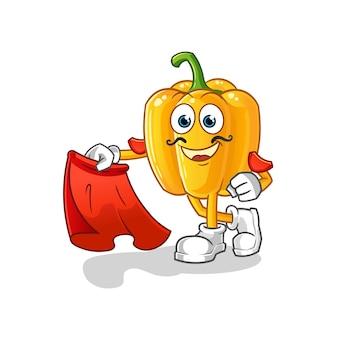 Matador paprika con illustrazione di panno rosso