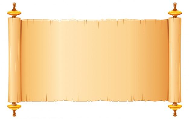 Rotolo di papiro, carta pergamena con vecchia struttura.