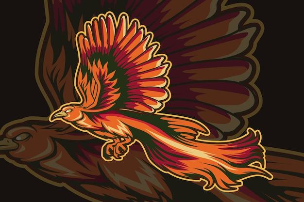 Disegno della mano dell'illustrazione dell'uccello del paradiso