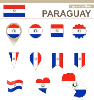 Collezione di bandiere del paraguay, 12 versioni