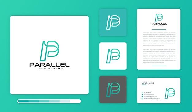 Parallel logo design template