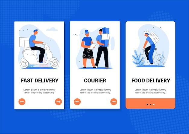 Banner web per la consegna di pacchi
