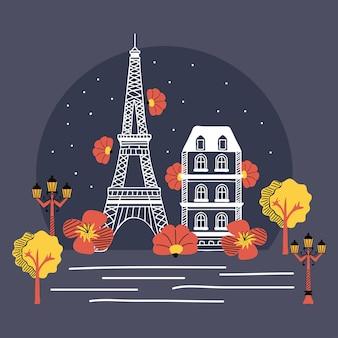 Notte di strada di parigi