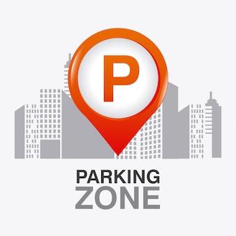 Area parcheggio grafica