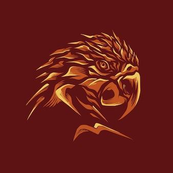 Illustrazione della testa del pappagallo