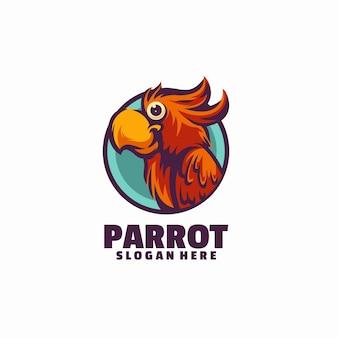 Modello di logo del pappagallo