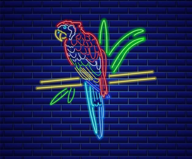 Uccello al neon pappagallo