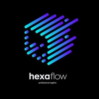 Design del logo del cubo di particelle