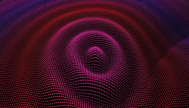 Griglia di particelle dai punti