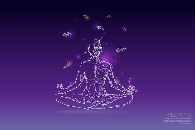 Le particelle, arte poligonale, geometrica - yoga