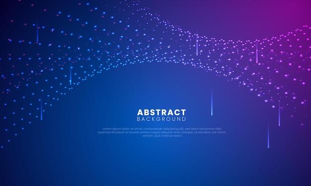 Particelle vorticose e riflettori sullo sfondo sfumato digitale