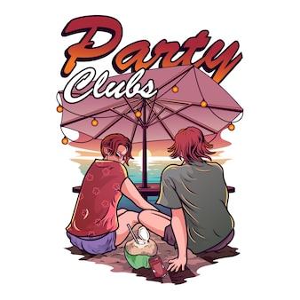 Illustrazione del club di partito
