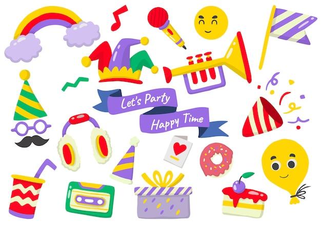 Etichetta del partito logo per banner, poster, flyer