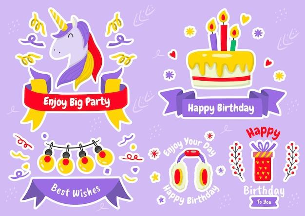 Set di etichette per feste