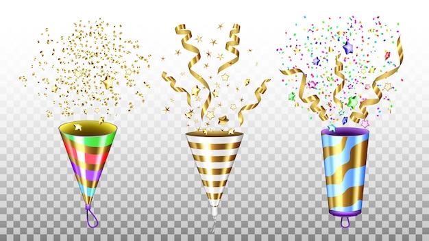 Set di accessori che esplodono per party popper