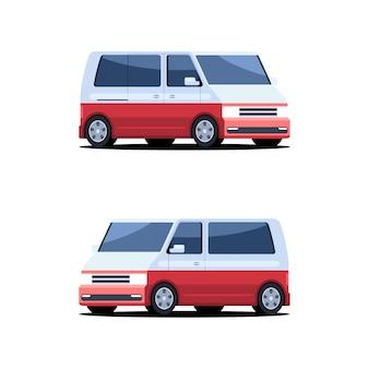 Set di furgoni per autobus passeggeri