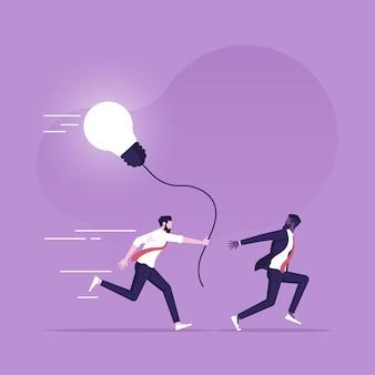 Passare l'idea a un'altra persona lavoratore passare un'attività lavorativa a un altro per continuare a lavorarci sopra