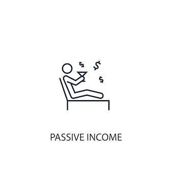 Icona della linea del concetto di reddito passivo. illustrazione semplice dell'elemento. disegno di simbolo di contorno del concetto di reddito passivo. può essere utilizzato per ui/ux mobile e web