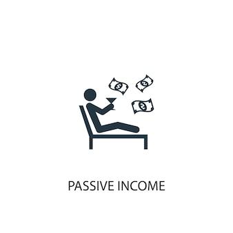 Icona di reddito passivo. illustrazione semplice dell'elemento. disegno di simbolo del concetto di reddito passivo. può essere utilizzato per web e mobile.