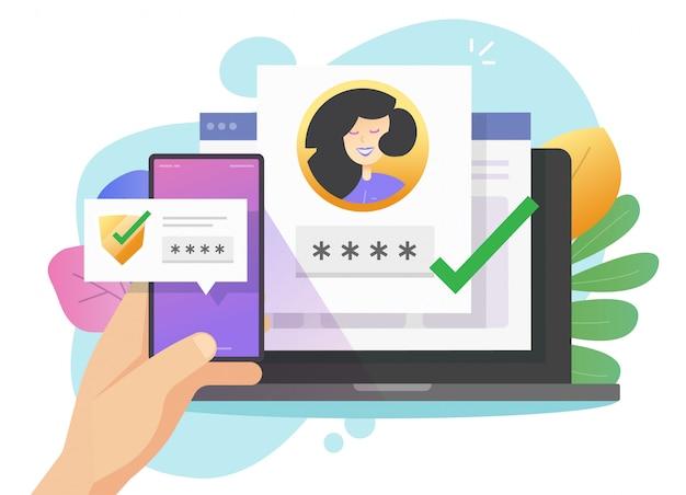 Messaggio push codice di verifica accesso password