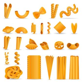 Set di icone di pasta