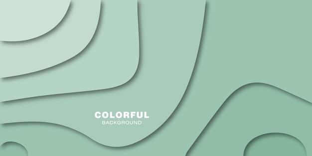 Pastello colorato carta tagliata sfondo.