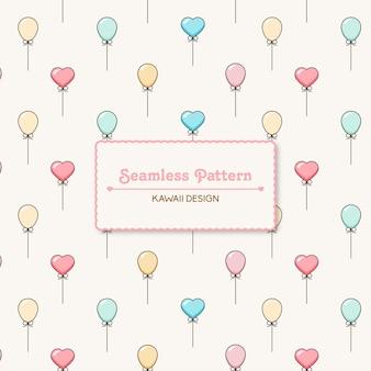 Colori pastello palloncini galleggianti seamless pattern