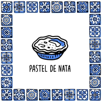 Pastel de nata dolce tradizionale portoghese torta all'uovo