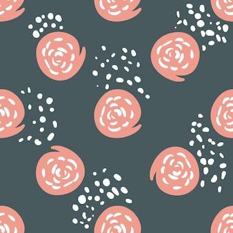 Motivo a pennellate rosa pastello e grigio - design moderno senza soluzione di continuità per la stampa