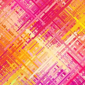 Linee diagonali di colore casuale di trama astratta di sfondo glitch rosa e giallo pastello
