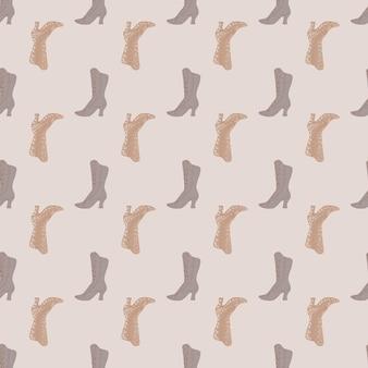 Modello di luce pastello senza soluzione di continuità con le donne boors semplici sagome. sfondo grigio. illustrazione vettoriale per stampe tessili stagionali, tessuti, striscioni, fondali e sfondi.