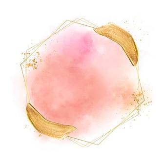 Acquerello pastello con cornice dorata