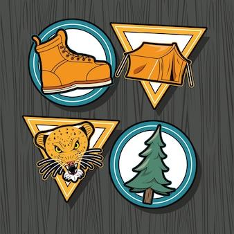 Patch quattro icone