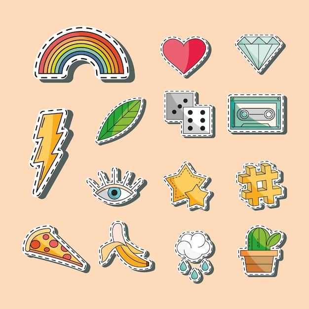 Collezione di icone di patch