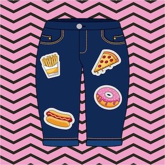 Toppa pantaloncini di jeans