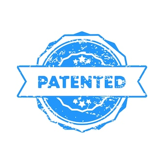 Timbro brevettato. vettore. icona del distintivo brevettato. logo distintivo certificato. modello di timbro. etichetta, adesivo, icone. vettore env 10. isolato su priorità bassa bianca.