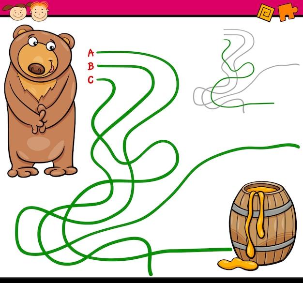 Percorso o gioco cartoon labirinto