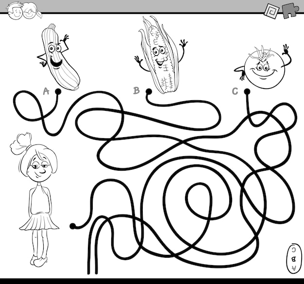 Libro da colorare compito labirinto