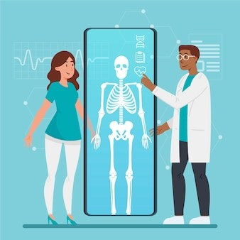 Paziente in esame da un medico in una clinica