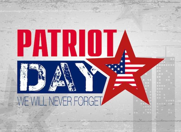 Giornata del patriota. lettere. 11 settembre. poster, cartoline, banner, modello