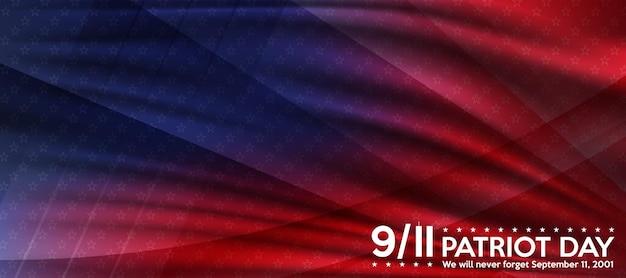 Patriot day 11 settembre non dimenticheremo mai lo sfondo del patriot day poster della bandiera degli stati uniti