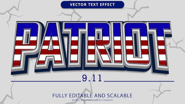 File eps modificabile effetto testo patriot