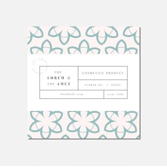 Patten per cosmetici con design modello etichetta. carta da regalo o da imballaggio per pacchetti e saloni di bellezza. collezione botanica. cosmetico organico e naturale.