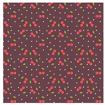 Pattern di sfondo di ciliegio e foglia