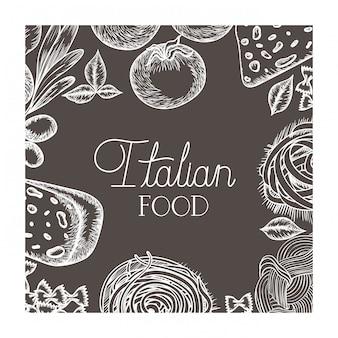 Modello di delizioso cibo italiano