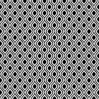 Fondo senza cuciture geometrico del diamante di progettazione del modello in bianco e nero