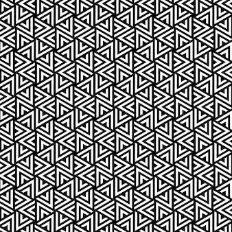 Linea di fondo senza cuciture geometrica del triangolo di progettazione del modello in bianco e nero