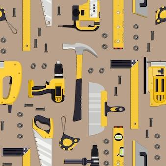 Modello di dispositivi per l'edilizia e la meccanica. illustrazione vettoriale.